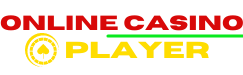 A logo of the onlineplayer.eu website with bold red and yellow font saying Online Casino Player.